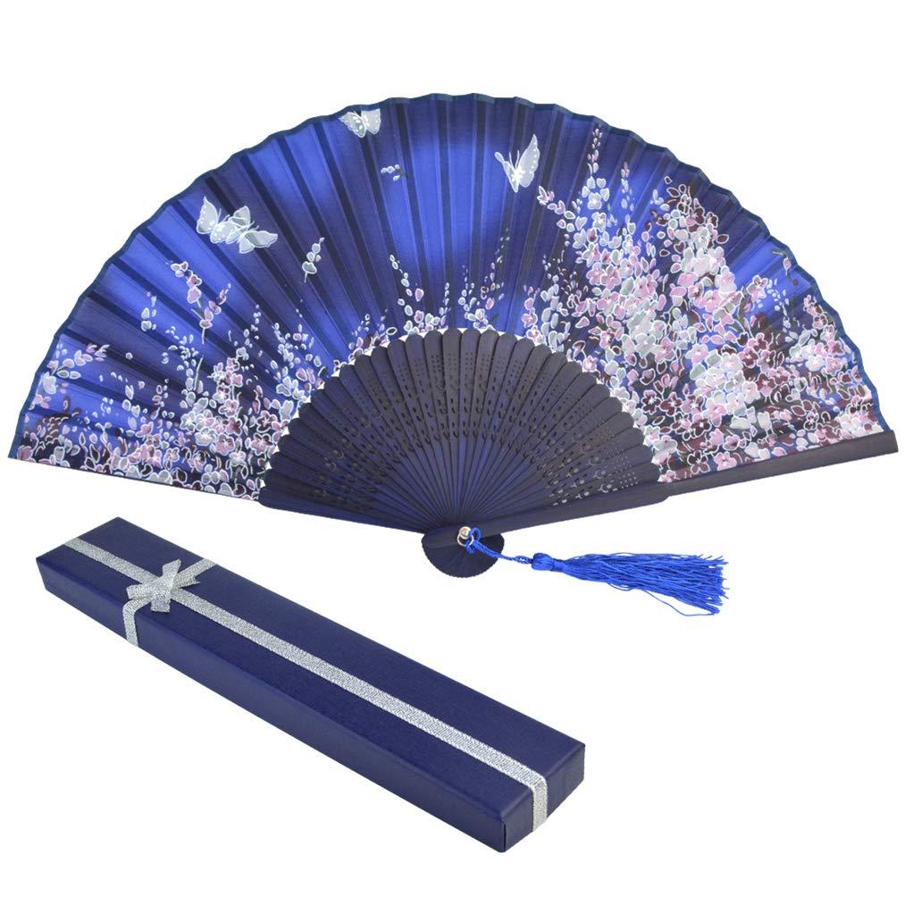 baotongle Handfächer aus Spitze Bambus Fächer mit Geschenkbox für den Sommer Anlässen, Hochzeiten im Freien, Gartenfeste