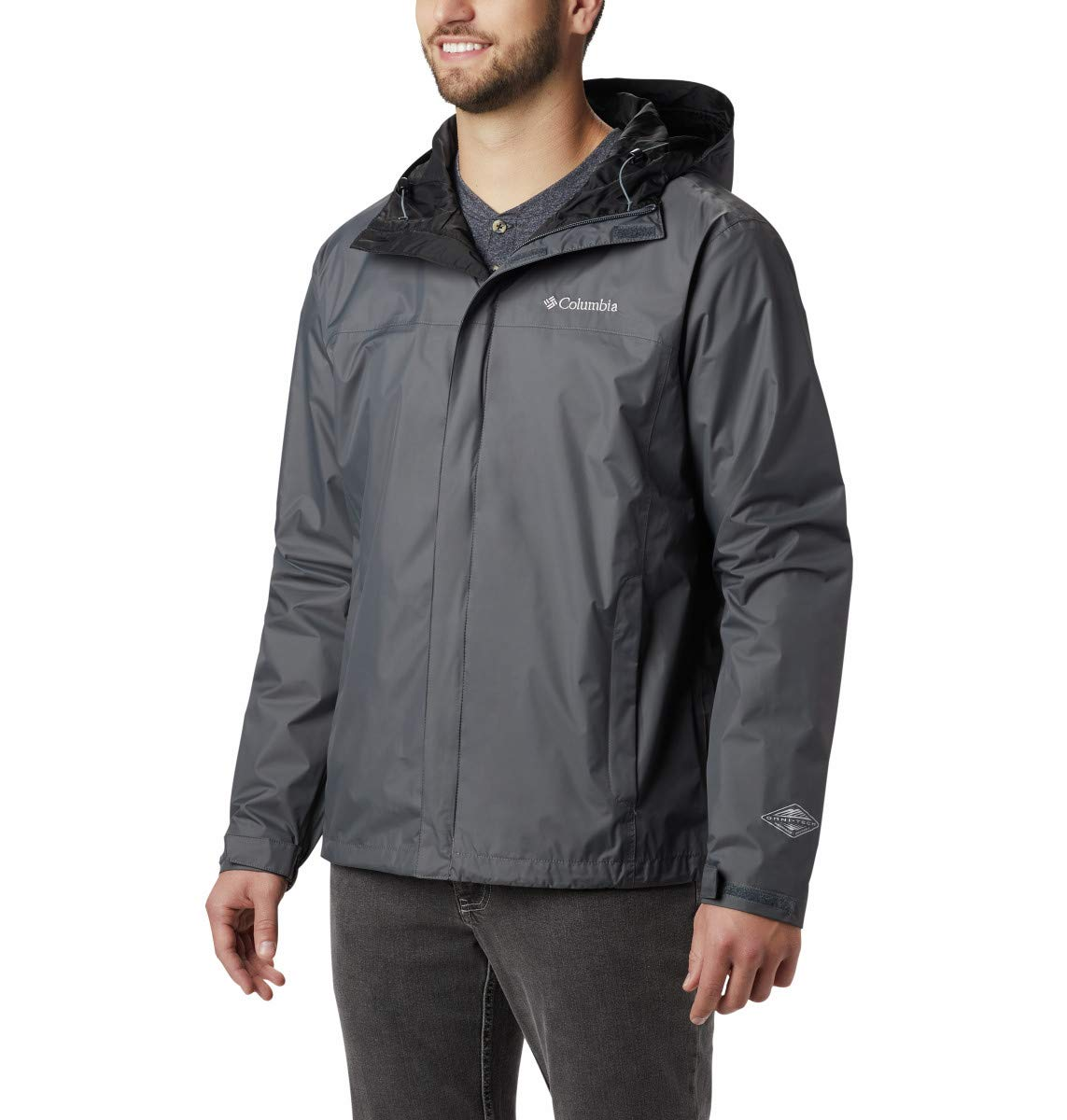 Columbia Men's Watertight II Waterproof, Breathable Rain Jacket, Graphite, Large by Columbia