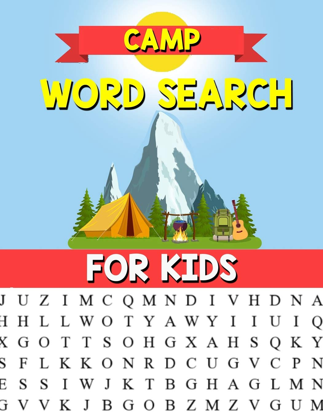 87a1af299d Camp Word Search For Kids: A Happy Camper Word Search Puzzle For ...