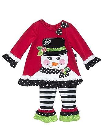 2933c15f3dc7 Amazon.com: Rare Editions Christmas Snowman Top and Striped Legging ...
