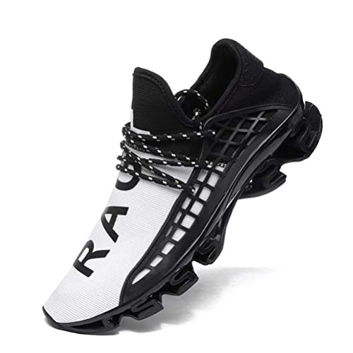 Mens Blade Black Tech Sports Shoes Sneakers Flyknit Athletic Trainer Springblade