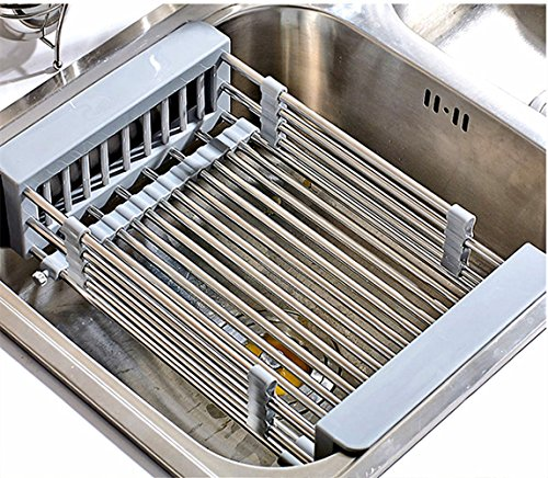 Disumos Sturdy Extra Stretch Large Roll Up Dish Drying Rack