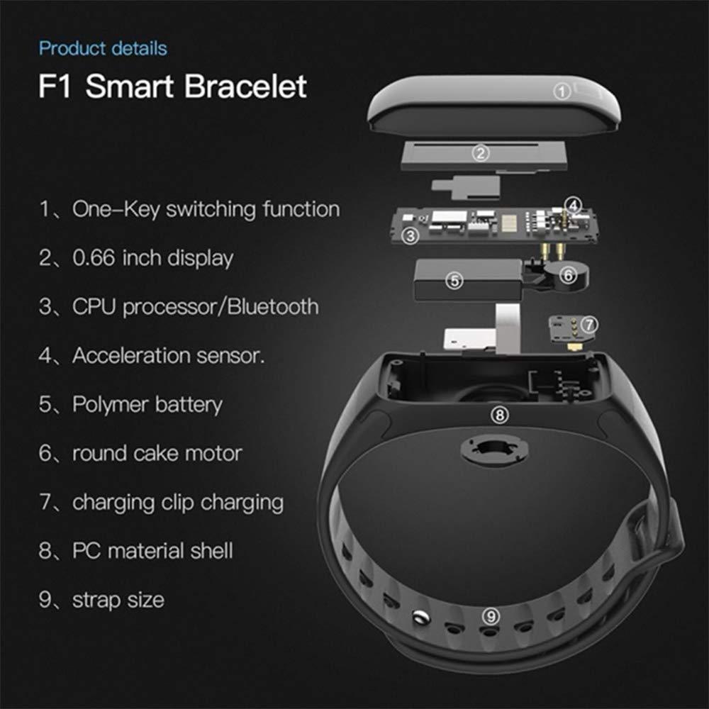 JDTECK BQ Aquaris C Fitness Bracelet, podómetro Smartwatch con ...