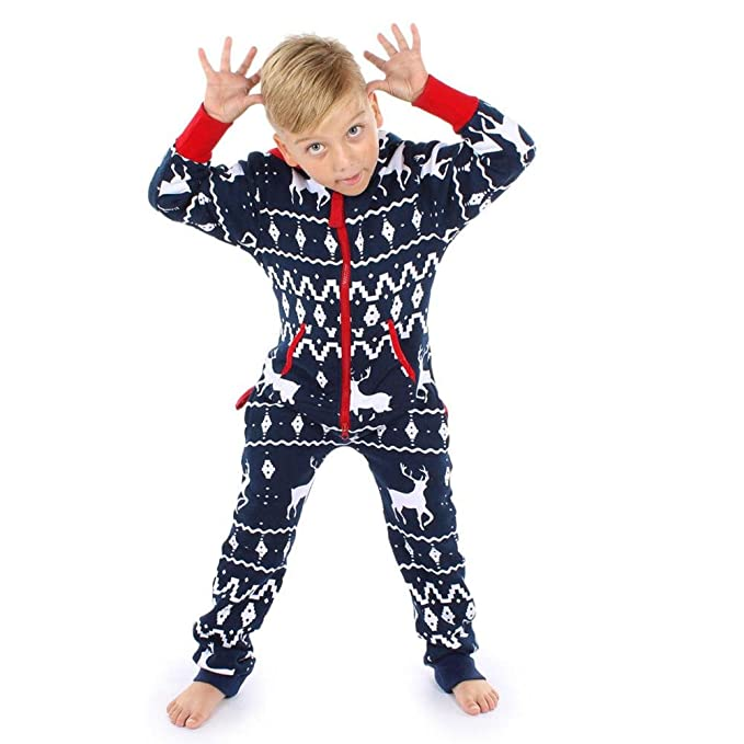 QUICKLYLY 2pcs Peleles Navidad Pijamas Familia Bebé Niño Niña Mujeres Hombres Invierno Manga Larga Ropa (