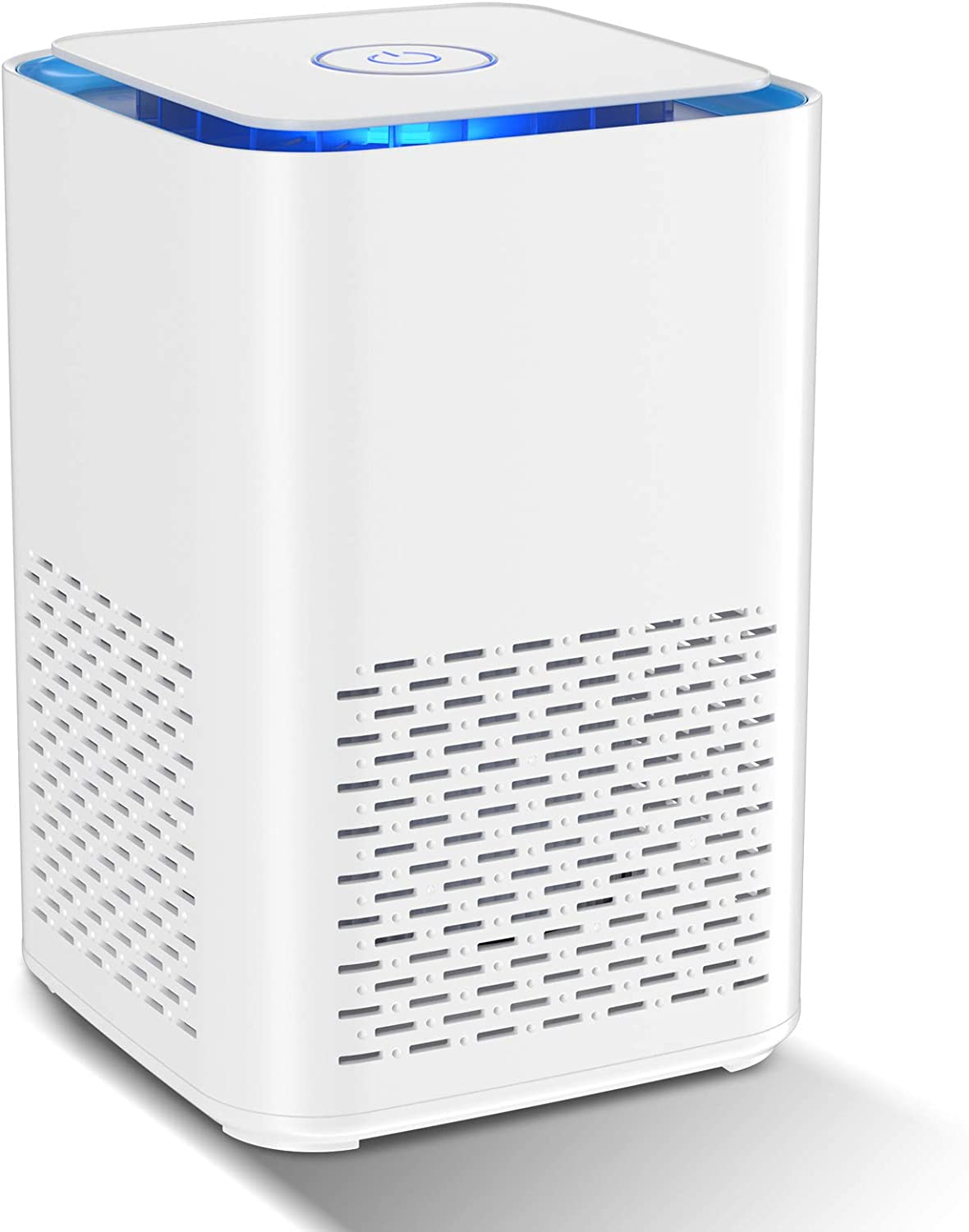 HAUEA Air Purifier for Home Compact Desktop Purifiers Filtration with True HEPA Filter Low Noise Portable Air Cleaner for Room and Offices, Remiving Allergens, Dust & Pollen, Smoke and Pet Dander