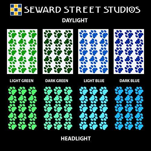 Seward Street Studios Reflective Decals Cat Print Set – Cat Tracks Safety Sticker Kit – Cat Prints Reflector Stickers (Red) by Seward Street Studios (Image #5)