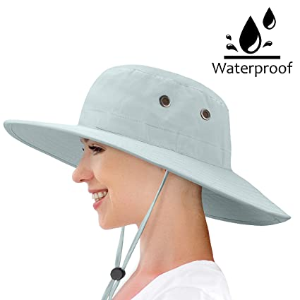 04afaf64 Image Unavailable. Image not available for. Color: Waterproof Sun Hat  Outdoor Wide Brim Bucket Boonie Cap for Safari Hiking Fishing