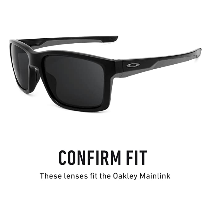 2f6aca2c32 Amazon.com  Revant Polarized Replacement Lenses for Oakley Mainlink Elite  Black Chrome MirrorShield  Sports   Outdoors