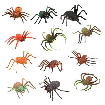 12pcs Plstico Juguete Figuras Modelos Araas Animales para Nios