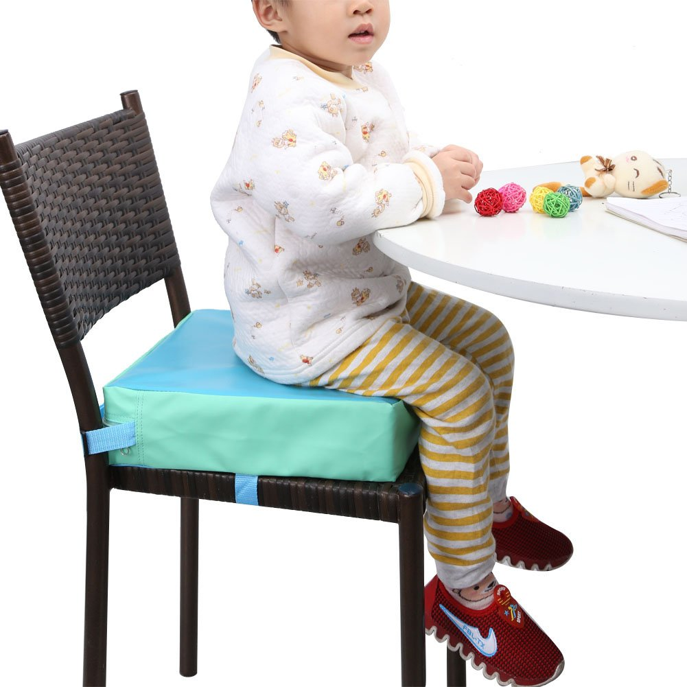 Zicac Kids' Dining Chair Heightening Cushion Dismountable Adjustable High Chair Pads Mat-3 inch high