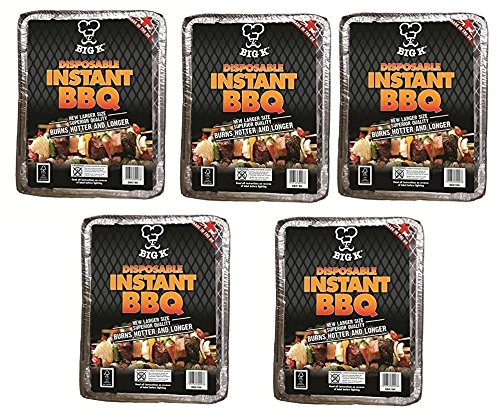 5 x Big K Disposable FSC Approved Instant Light BBQ Charcoal Grill Outdoor Home Picnic Restaurant Food Hot Beach Camping Concept4u