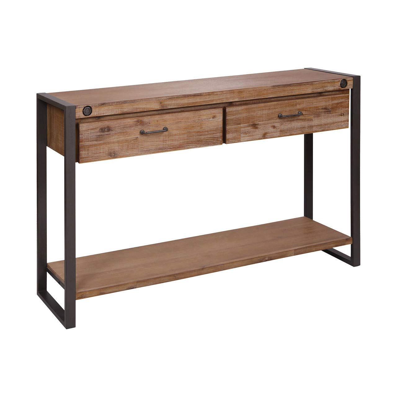 Stein World 2-Drawer Console Table in Brown Finish