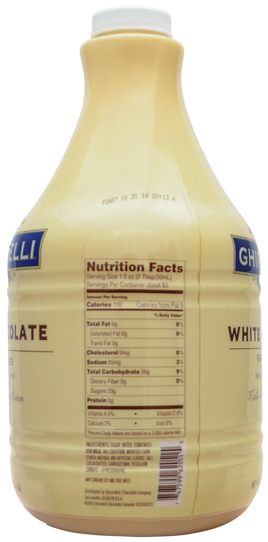 Ghirardelli - White Flavored Sauce, 89.4 Ounce Bottle - with Limited Edition Measuring Spoon by Ghirardelli (Image #2)