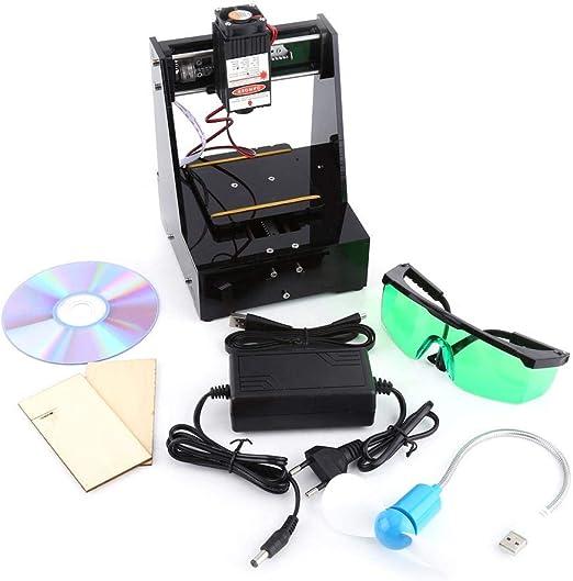 Akozon Máquina de Grabado Láser 2000mW, 100-240V Mini DIY Grabador ...