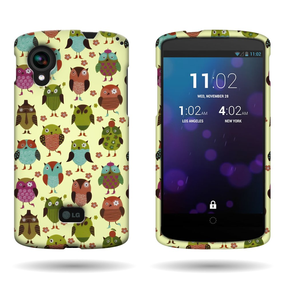 buy online b62d9 00ea3 CoverON Slim Hard Case for LG Google Nexus 5 with Cover Removal Tool -  (Fancy Owl)
