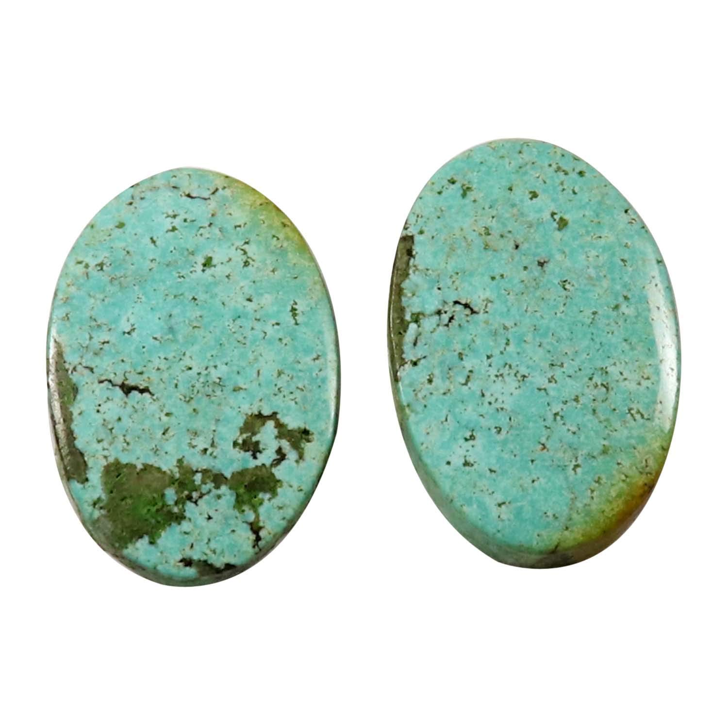A Natural Tibet Turquoise Oval Collection Loose Gemstone