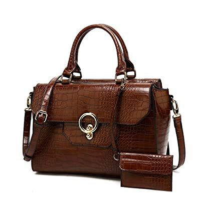 a4d440c5ab0c Amazon.com  Womens Handbag and Purses Designer Pu Leather Tote Bag Shoulder  bag Fashion Embossed Top Handle Bags  Shoes