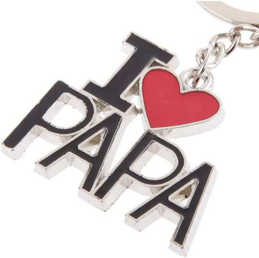 Nikgic I Love Mom Papa Key Chain Rings Keyring Home Car Key Purse Bag Pendant Parent Valentine Gifts Couple