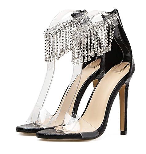Sandales Or Fanessy Mode Noir Taille Grande Femme Escarpins Talon wm0yN8PvOn