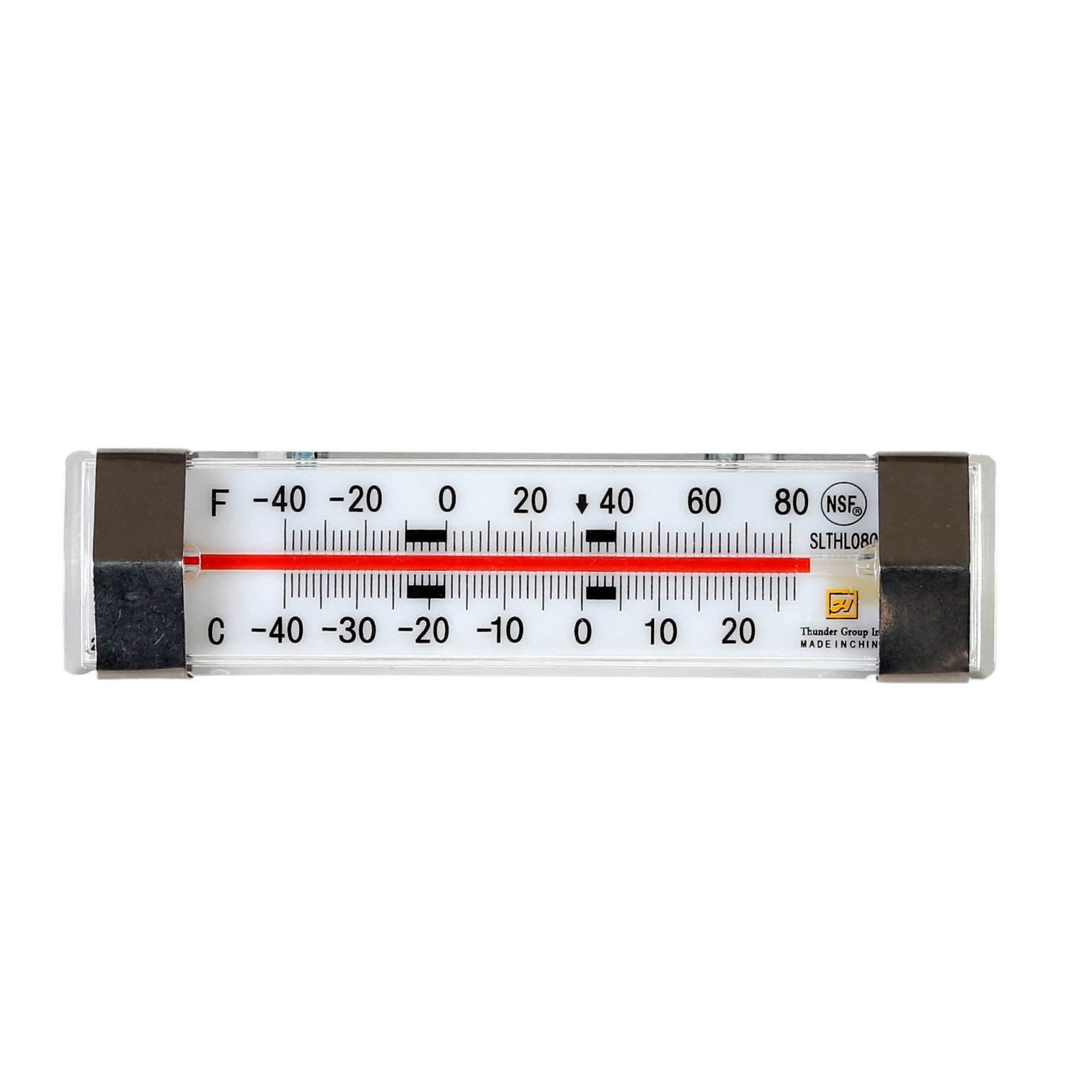 Excellante Horizontal Liquid Scale Thermometer, -40 to 80 Degrees Fahrenheit