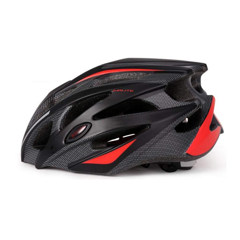 ヘルメット 自転車ヘルメット、ロードマウンテンバイクヘルメット調節可能な軽量一体型成人用ヘルメットバイクレーシングセーフティキャップ  L l
