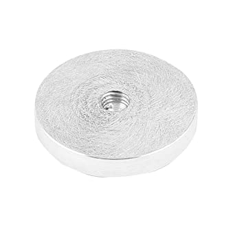 Sourcingmap - ® Aluminio Disco superior de vidrio de mesa adaptador 49 mm Rosca de 8 mm Dia Plata Tono: Amazon.es: Hogar
