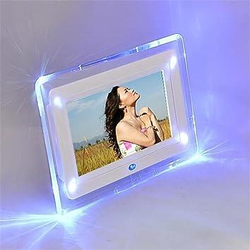 Marcos digitales Marco de fotos digital 7 pulgadas de alta resolución con pantalla grande de formato