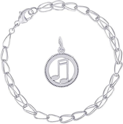 18-Inch Rhodium Plated Necklace with 4mm Light Rose Birthstone Beads and Sterling Silver Saint Isaiah Charm.
