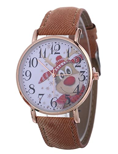 Womens Quartz Watches,COOKI Christmas Santa Claus Analog Clearance Lady Watches Female Watches for Women