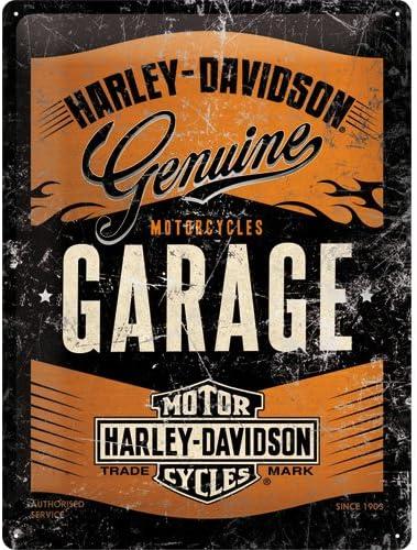 Nostalgic-Art 63304 Plaque en m/étal 30/x 40/cm Harley-Davidson Garage m/étallique/ /Special Edition