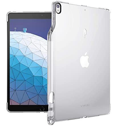 super popular a2c7f c01b2 iPad Air 3 Case (10.5 Inch, 2019), iPad Pro 10.5 Case, Poetic Flexible Soft  Transparent TPU Clear Back Cover with Pencil Holder, Compatible with Apple  ...
