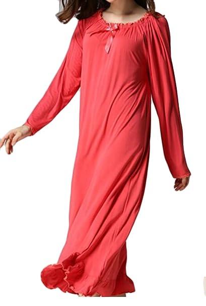 Amazon com: WANSHIYISHE-Women Fashion Solid Crew Neck Long Sleeve
