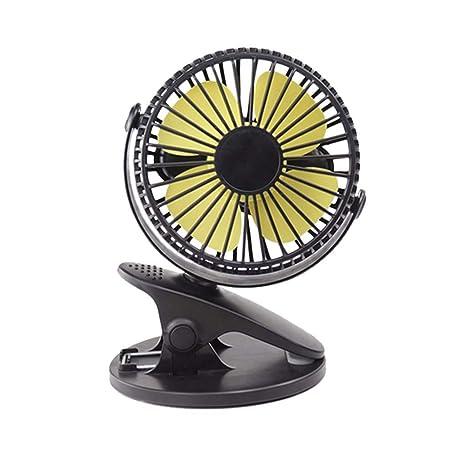 360° Portable Camping Fan Rechargeable USB Clip On Mini Desk Fan Pram Car Cool