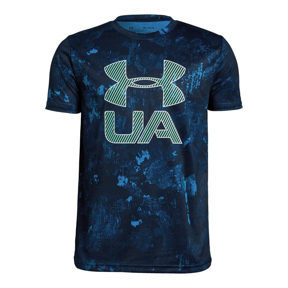Under Armour Boys' Printed Crossfade T-Shirt, Academy (408)/White, Youth X-Large