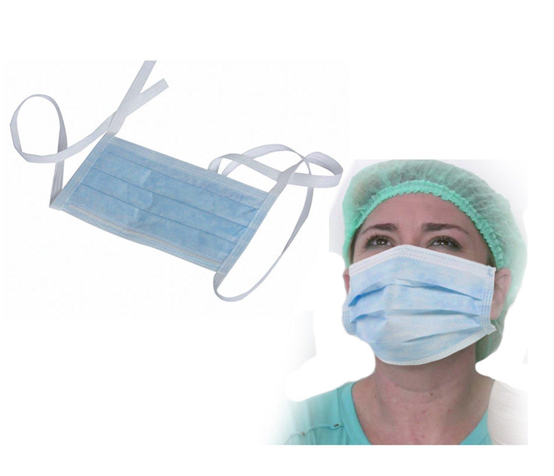 Smart Care Face Mask Tie 2 Ply Blue Colour 100 Pcs (Bulk Packing) by SMARTCARE