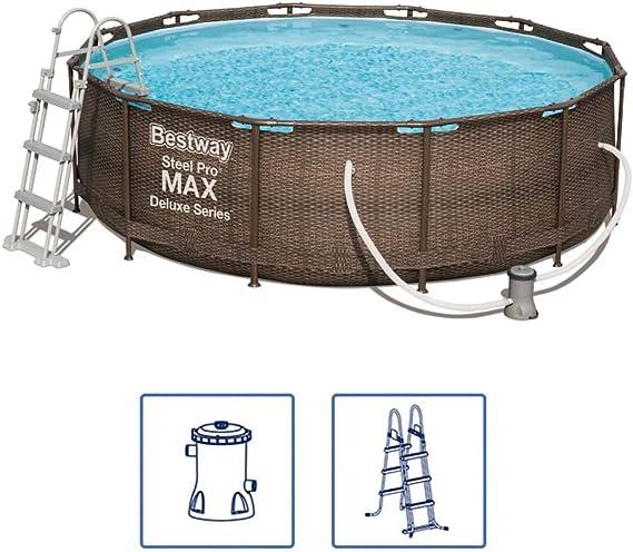 Bestway Piscina Desmontable Steel Pro Max Deluxe 366x100 Cm 56709: Amazon.es: Juguetes y juegos