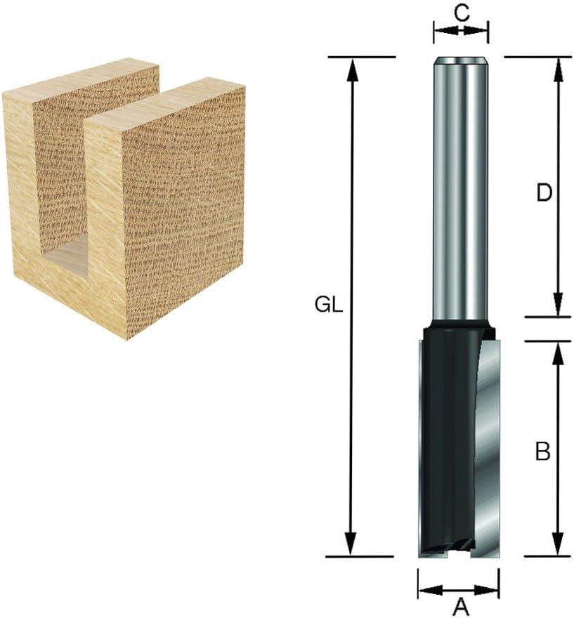 Diam/ètre 8 mm D 32 mm C ENT Fraise /à rainurer Carbure Queue B 12 mm 5 mm A GL 50 mm