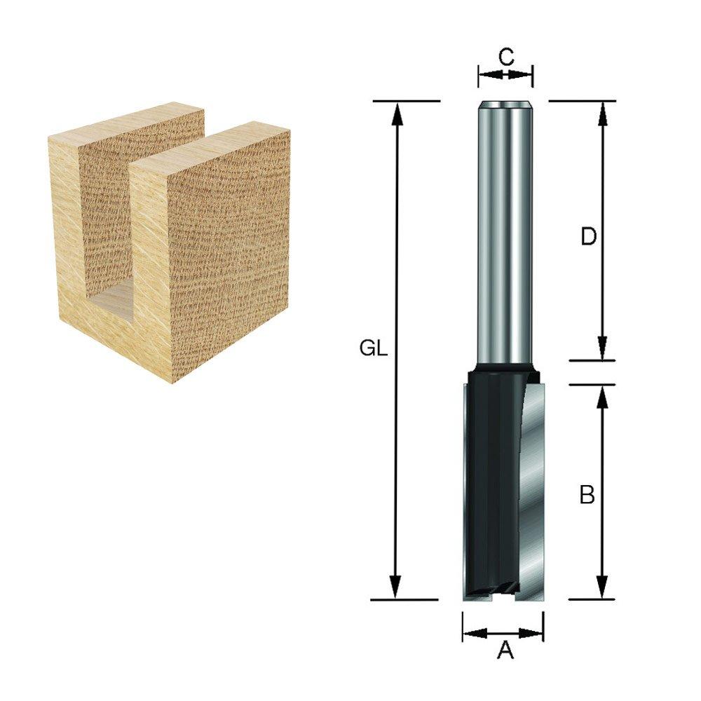 GL 62 mm A B 30 mm HM ENT 10401 Nutfr/äser HW 8 mm Durchmesser 17 mm D 32 mm Schaft C