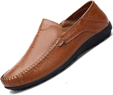 Mens Leather Slip On Slipper Casual Stylish Slipper Brown