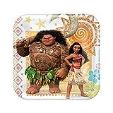 BirthdayExpress Disney Moana Party Supplies - Paper Dessert Plate (48)
