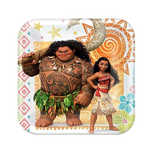 - BirthdayExpress Disney Moana Party Supplies - Paper Dessert Plate (24)
