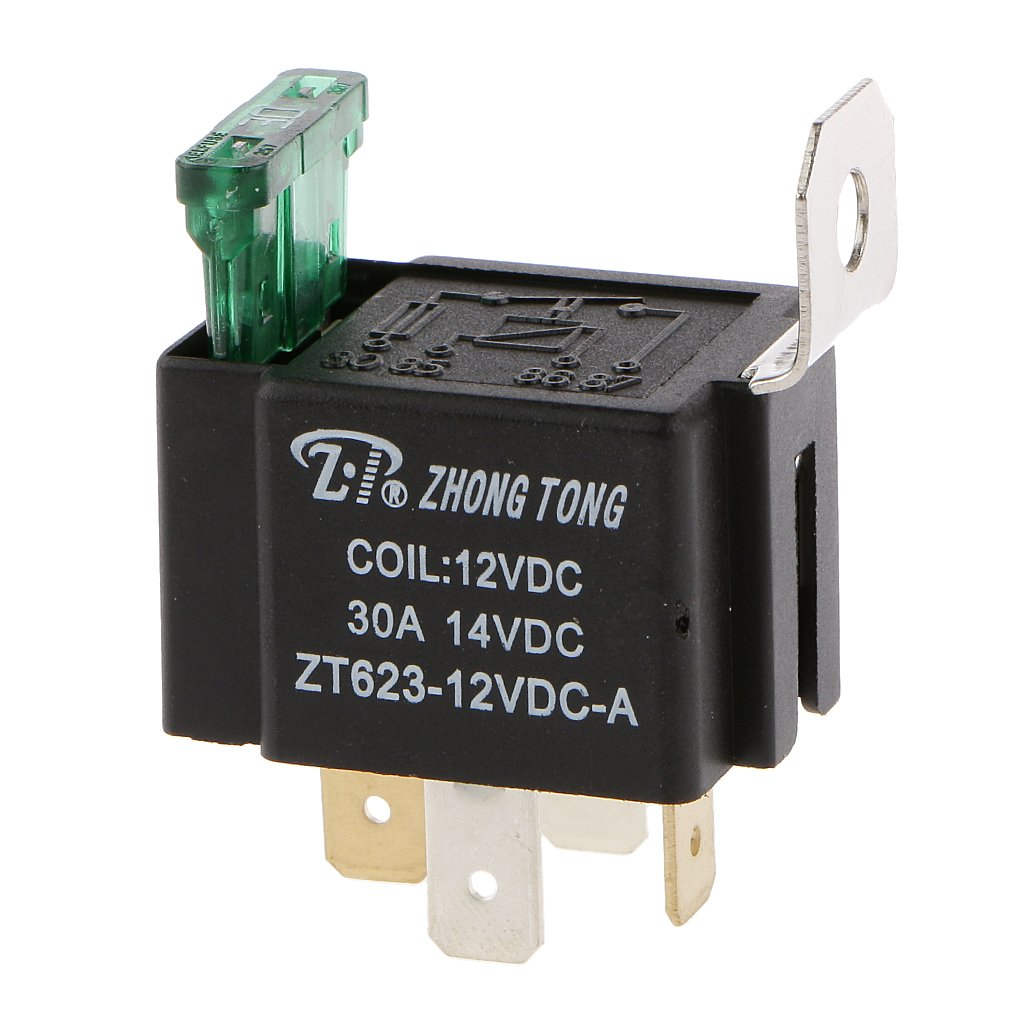 Generic DC 12V 30A 4 Pin 4P Metal Heavy Duty Car Motor Automotive Fuse Relay SPST