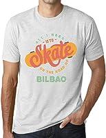 Hombre Camiseta Vintage T-Shirt Gráfico On The Road of Bilbao Blanco Moteado