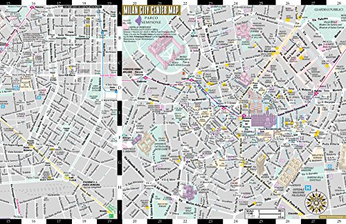 Streetwise Milan Map - Laminated City Center Street Map of - Import ...