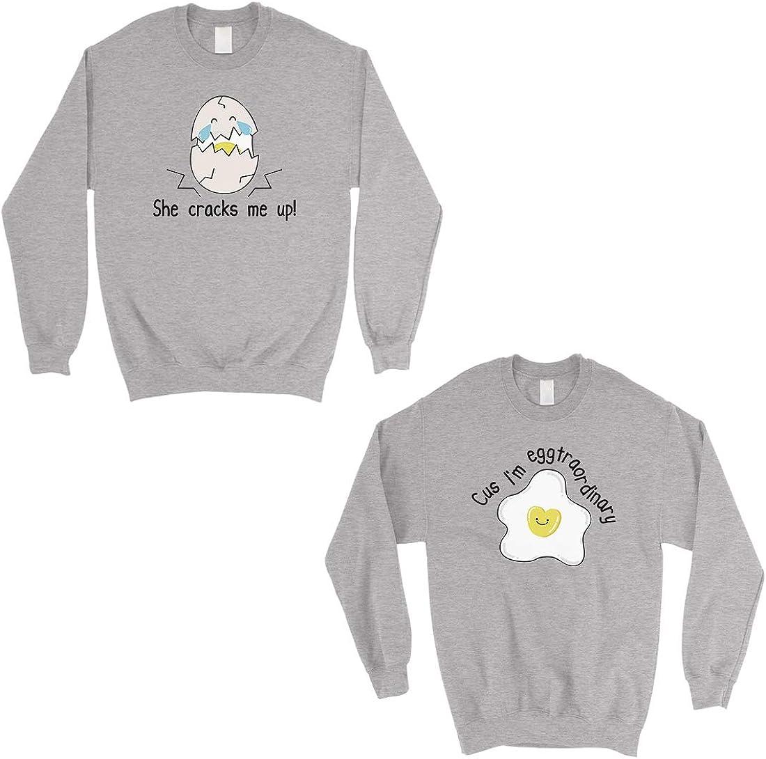 365 Printing Egg Crack Eggtraordinary Grey Matching Sweatshirt Pullover Gift
