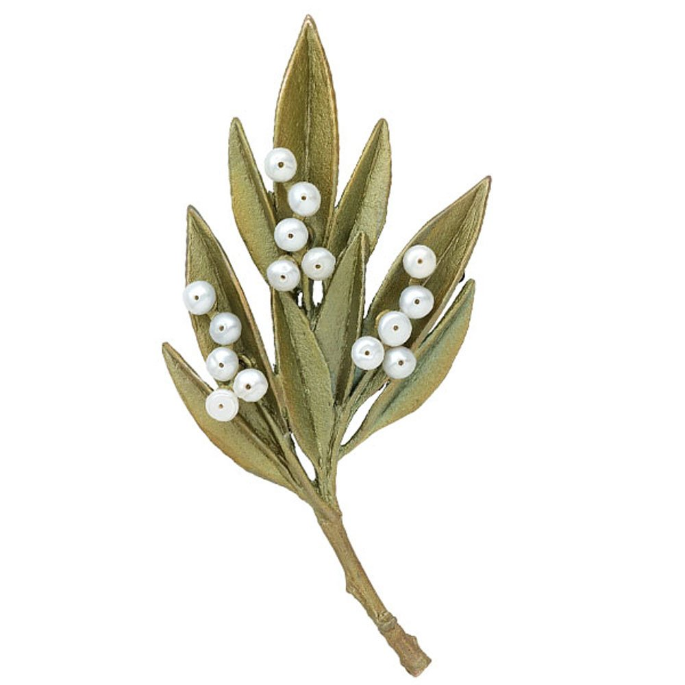 Ash Leaf Pearl Pin/Brooch by Michael Michaud #5964 BZ