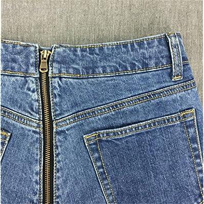 ainr Women's Retro Sexy Stylish Cotton Zip-Up Bodycon Hot Slim Denim Shorts