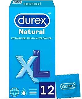 Durex Preservativos Originales Natural Plus Talla XL - 12 condones Más Grandes: Amazon.es: Salud y cuidado personal