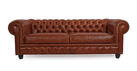 Amazon.com: Kardiel Chesterfield Style Modern Vintage Sofa ...