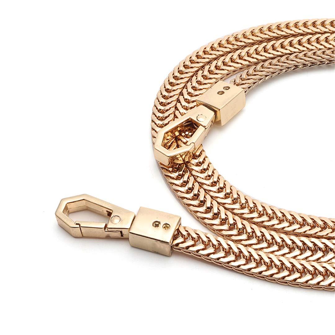 Gold Chain Straps Bag Strap Shoulder Belts Alloy Metal Bag Straps DIY Replacement Women Bag Strap Detachable Bands 120//100Cm 120cm gold